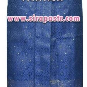 """ผ้าถุงป้าย-หน้านาง B1-3B สีน้ำเงิน (เอวใส่ได้ถึง 28"""") *แบบสำเร็จรูป-รายละเอียดตามหน้าสินค้า"""