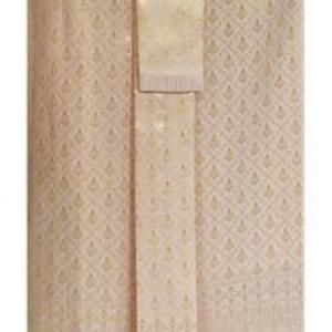 ผ้าถุงป้าย-หน้านาง B7-3 สีครีมทอง (เอวใส่ได้ถึง 30 นิ้ว) *แบบสำเร็จรูป-รายละเอียดตามหน้าสินค้า