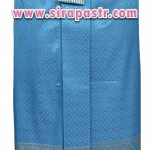 ผ้าถุงป้าย-หน้านาง N1-1A สีฟ้า (เอวใส่ได้ถึง 26/32 นิ้ว) *แบบสำเร็จรูป-รายละเอียดตามหน้าสินค้า
