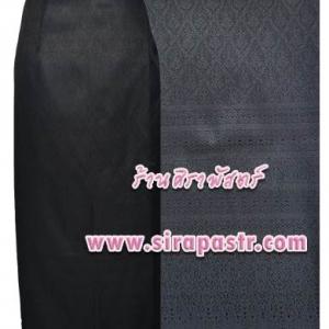 """ผ้าถุงป้ายข้าง-สีดำ BK (เอวใส่ได้ถึง 34"""") *รายละเอียดสินค้าในหน้าฯ (สินค้าลดราคา)"""