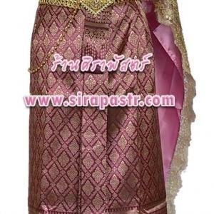 ชุดไทย TH2 (สไบผ้าเรียบ+สไบลูกไม้+ผ้าถุงฯ เอวใส่ได้ถึง 28 นิ้ว) *รายละเอียดในหน้าสินค้า