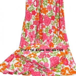 ผ้าห่มขนหนู 5ฟุต พิมพ์ลาย ผืนละ 165บาท ส่ง 72ผืน ( 100% Polyester)