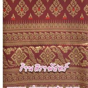 ผ้าลายไทย-J1 สีเลือดนก *เลือกขนาด / รายละเอียดในหน้าสินค้า