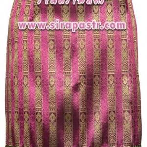 """ผ้าถุงป้ายข้าง-สั้น สีชมพู (เอวใส่ได้ถึง 34"""") *รายละเอียดตามหน้าสินค้า"""