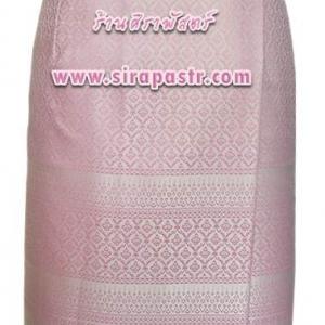 """ผ้าถุงป้ายข้าง-สั้น สีชมพู (เอวใส่ได้ถึง 34"""") *รายละเอียดสินค้าในหน้าฯ"""