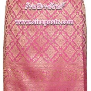 ผ้าถุงป้ายข้าง-สั้น สีชมพูเข้ม-2 (เอวใส่ได้ถึง 30 นิ้ว) รายละเอียดสินค้าในหน้าฯ