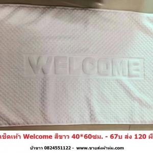 ผ้าเช็ดเท้า Welcome 40*60ซม (งานจีน) ผืนละ 60บ ส่ง 120ผืน - มี สีขาว/ น้ำตาล/ น้ำเงิน
