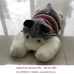 หมอนผ้าห่ม น้องหมา - ตัวละ 245บ ส่ง 70ตัว