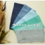 ผ้าเช็ดหน้าสีพื้นโทนฟ้า 6 ผืน thumbnail 2