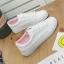 รองเท้าผ้าใบหนังนิ่มปักแมวด้านหลัง ได้เชือก 2 สี [พร้อมส่ง] thumbnail 6