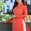 ชุดเวียดนามผู้หญิง สีส้ม (งานสั่งตัดพิเศษ) thumbnail 6