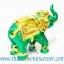ของพรีเมี่ยม ของที่ระลึกไทย ช้าง แบบ 8 Size S สีเขียวทอง thumbnail 3
