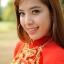 ชุดเวียดนามหญิงชั้นสูง ลายหงส์มังกร (ส่งฟรี EMS) - สีเหลือง thumbnail 6