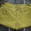 กางเกงยีนส์ขาสั้น สีเหลืองสวยสดใส ขอบกางเกงด้านในปัก vintage เก่ไก๋สไลเดอร์ thumbnail 2