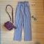 กางเกงลายทาง ผ้าไหมอิตาลี่จ้า thumbnail 4
