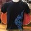 เสื้อลายไทย ลายนกคาบ (ลายสีฟ้า)