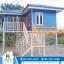 บ้านโมบาย ขนาด 6*7 เมตร ระเบียง 3*3 เมตร ยกสุง 2 เมตร (2ห้องนอน 2ห้องน้ำ 1ห้องรับเเขก) thumbnail 1