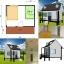 บ้านน็อคดาวน์ สไตล์ ตะวันตก 3*4 เมตร (1 ห้องนอน 1 ห้องน้ำ) thumbnail 2