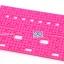 แผ่นพลาสติกเจาะรู ขนาด 85x140mm สีชมพู thumbnail 1
