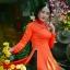 ชุดเวียดนามผู้หญิง สีส้ม (งานสั่งตัดพิเศษ) thumbnail 4