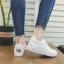 รองเท้าผ้าใบหนังนิ่มปักแมวด้านหลัง ได้เชือก 2 สี [พร้อมส่ง] thumbnail 3