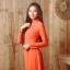 ชุดเวียดนามผู้หญิง สีส้ม (งานสั่งตัดพิเศษ) thumbnail 2