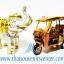 ของพรีเมี่ยม ของที่ระลึกไทย ช้าง vs รถตุ๊กตุ๊ก แบบ 12 Size S สีเงินทอง thumbnail 1