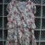 เดรสสั้น สีครีมลายดอกไม้ เนื้อผ้านิ่ม ใส่สบาย ใส่แล้วดูสวยหวาน ยี่ห้อ Style By CNE จากเกาหลี Size M thumbnail 1