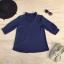 เสื้อคอวีคาดโชคเกอร์ ผ้ามอสเครป thumbnail 6