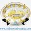 ของพรีเมี่ยม ของที่ระลึกไทย จานโชว์ แบบที่ 71 Size M สีเงินลายทอง thumbnail 1