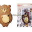 พิมพ์กดคุกกี้ / ฟองดอง รูปหมีกับไหน้ำผึ้ง thumbnail 1