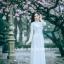 ชุดเวียดนามผู้หญิง สีขาว (งานสั่งตัดพิเศษ) thumbnail 5