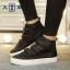 รองเท้าผ้าใบแฟชั่นหุ้มข้อ ขนาด 35-39 (พรีออเดอร์) thumbnail 7