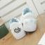 รองเท้าผ้าใบหนังนิ่มปักแมวด้านหลัง ได้เชือก 2 สี [พร้อมส่ง] thumbnail 4
