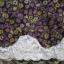 กระโปรงแฟชั่น สีม่วง ลายดอกไม้น่ารัก เย็บลูกไม้ที่ชายกระโปรง thumbnail 2