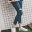 YUANBO รองเท้าผ้าใบหนังนิ่มสีขาวคาดสีฟ้า ได้เชือก 2 คู่(สีขาว+สีฟ้า) thumbnail 13