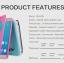 Samsung Galaxy A9 Pro - เคสฝาพับ Nillkin Sparkle leather case แท้ thumbnail 5