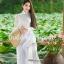 ชุดเวียดนามผู้หญิง สีขาว (งานสั่งตัดพิเศษ) thumbnail 6