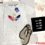 F10196 เสื้อยืดคอกลม แขนสั้น ปักลาย ADIDAS สีขาว thumbnail 1