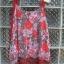 เสื้อแฟชั่นสายเดี่ยว ผ้าชีฟอง สีแดงลาบดอก สวยสด ชายมีระบายด้วยผ้าสีเทาเก๋ พริ้ว ใส่สบาย thumbnail 2