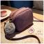 J31-กระเป๋าทรงเหลี่ยมมีปอมๆ สีแดงวินเทจ thumbnail 1