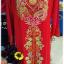 ชุดเวียดนามหญิงชั้นสูง ลายหงส์มังกร (ส่งฟรี EMS) - สีเหลือง thumbnail 4