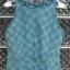 เสื้อแขนกุด สีฟ้า ลายสก๊อต มีระบายที่คอเสื้อ cutting สวยเนี๊ยบ thumbnail 2