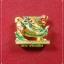 สิงห์มหาอำนาจ (ใหญ่) หลวงปู่รอด วัดสันติกาวาส เนื้อทองสมกะหลั่ยทอง ลงยาเบญจรงค์ ๕ สี thumbnail 3