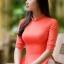 ชุดเวียดนามผู้หญิง สีส้ม (งานสั่งตัดพิเศษ) thumbnail 5