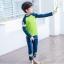 ชุดว่ายน้ำแขนยาว กันยูวี green thumbnail 4
