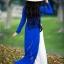 ชุดเวียดนามผู้หญิง สีน้ำเงิน (งานสั่งตัดพิเศษ) thumbnail 5