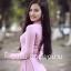 ชุดเวียดนามผู้หญิง สีชมพูอ่อน (งานสั่งตัดพิเศษ) thumbnail 2
