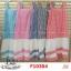 F10304 Maxi dress ลายสก๊อต สีชมพู แต่งชายระบาย สลับสี มีกระเป๋าข้าง งานใส่ยางหลัง thumbnail 3
