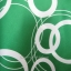 เสื้อแฟชั่นสีเขียวลายวงกลม สายเดี่ยว ผ้ามันลื่น นิ่ม สวยดูดี ผูกโบว์ที่ต้นคอด้านหลัง Made in USA thumbnail 4